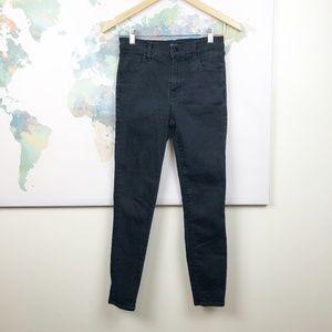J Brand Alana Black High Rise Crop Jeans Size 26